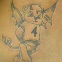 orsacchiotto diavoletto tatuaggio