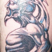 Extraterrestrial demon in agony art
