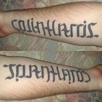 Ambigram colin harris and joan hatos