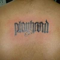 Ambigramma con la frase