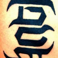 Un piccolo tatuaggio di disegno calligrafico