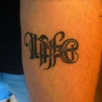 Ambigram life and death tattoo