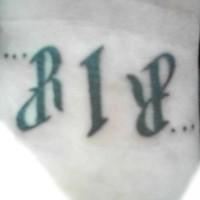 Ambigram abbreviation rip
