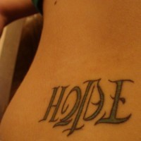 Ambigram Tattoo Bild