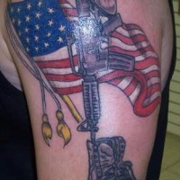 American army patriotic  tattoo