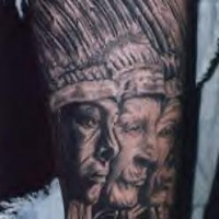 American indian chiefs profiles tattoo