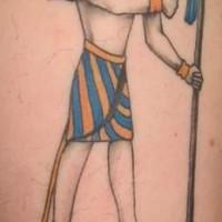 White anubis coloured tattoo