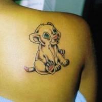 Little lion simba tattoo