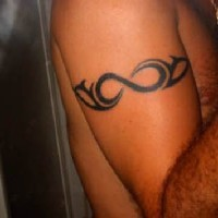 Regular tribal armband tattoo
