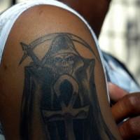 Death arm tattoo