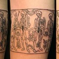 Danse macabre arm tattoo