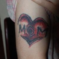Love mom arm tattoo