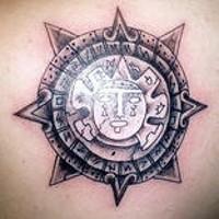 Mayan god of sun tattoo