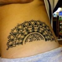 Aztec tracery black tattoo