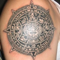 Stone of the five eras high quality tattoo