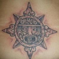 Sole Azteco tatuato