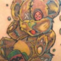 orsacchiotto vecchio beve tatuaggio