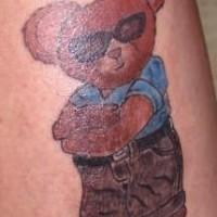 avera a che fare orsacchiotto tatuaggio