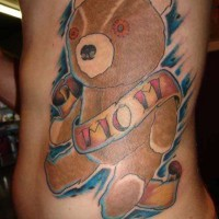 With love to mom teddy bear tattoo