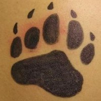 Bear paw print tattoo