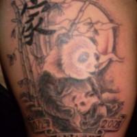 Panda bear with child tattoo