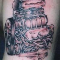 Steel motorcycle endine tattoo