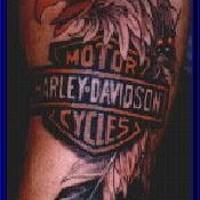 Harley davidson eagle feather tattoo