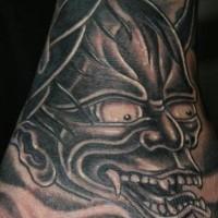 Black demon tattoo