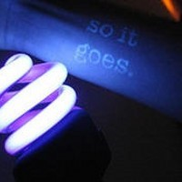 So it goes text glowing ink tattoo