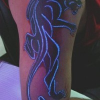 Black panther glowing tattoo