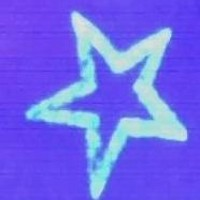 Five-pointed star uv ink tattoo