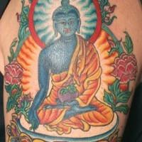 Hindu deity vishnu tattoo