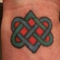 Buddhist love knot tattoo