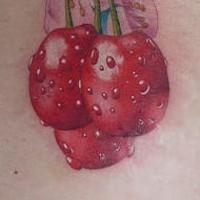Cherries blossom butt tattoo