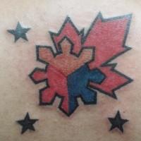 simbolo canadese tatuaggio
