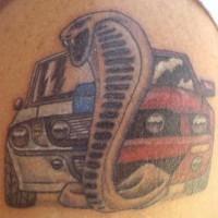 vipera schivare macchina evoluzione tatuaggio