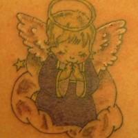 Cartoon angel tattoo