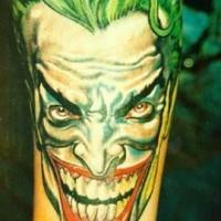 Joker comico tatuato