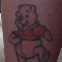 Winnie the pooh tattoo in colour