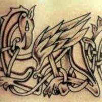 modello celtico firebird tatuaggio