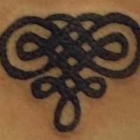 semplice trafori celtic tatuaggio