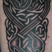Celtic knotted artwork tattoo