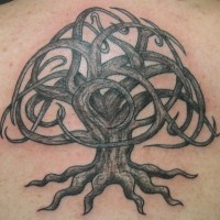 Celtic knotted tree of life tattoo