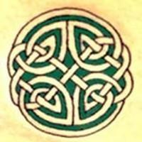 celtico paterno verde tatuaggio