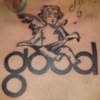 buona lettura cherubino tatuaggio