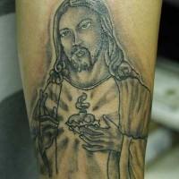 Christian themed jesus tattoo