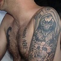 Mister death clown tattoo