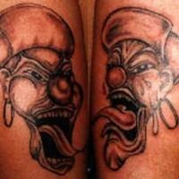 due pagliacci in cappello tatuaggio