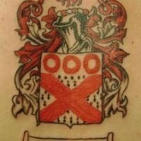 Family crest gibbons reg ink tattoo