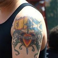 Spain and scotland emblems tattoo
